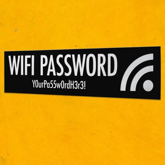 Plastic wifi signs