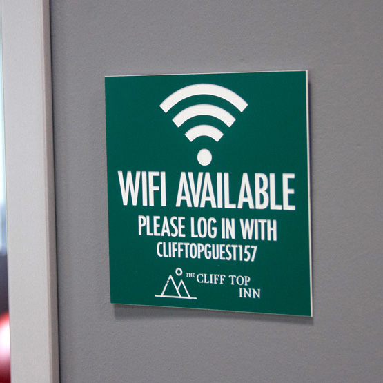 Plastic WiFi Sign