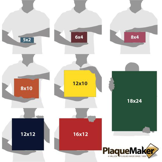 Plastic Signs Size Chart