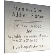 Stainless Steel Address Sign