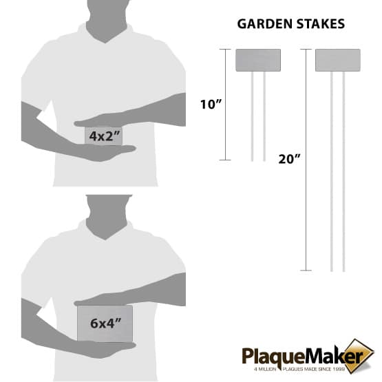 Stainless Steel Garden Marker Sizes