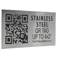 Stainless Steel QR Code Tag