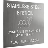 Steel Stencil Sign