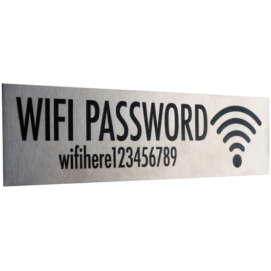 Stainless Steel WiFI Sign 8x2
