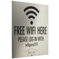 Stainless Steel WiFI Sign