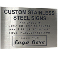 Stainless Steel Sign