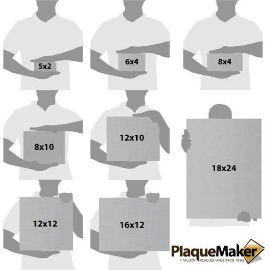 Stainless Steel Sign Size Chart