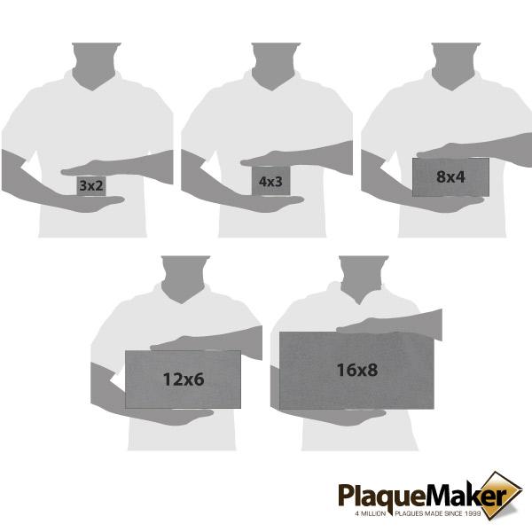 Titanium Address Plaque Size Chart