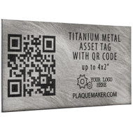 Titanium Qr code asset tag