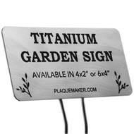 Titanium Garden Markers