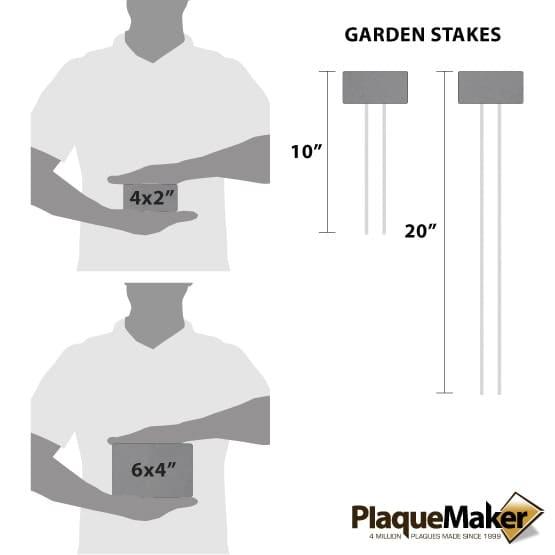 Titanium Garden Markers Size Guide