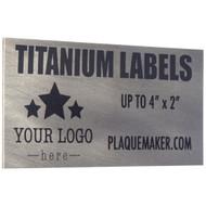 titanium wall tag