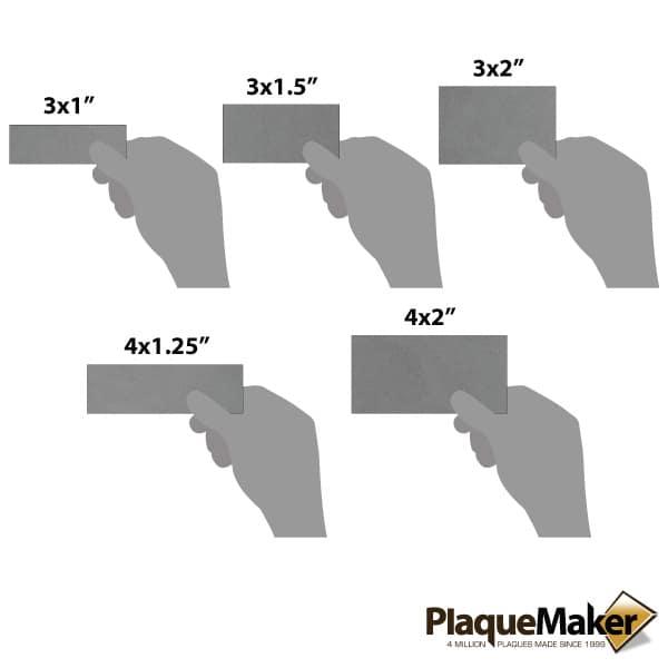 titanium wall tag sizes