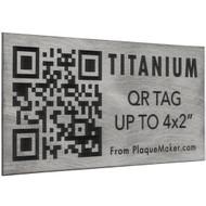 Titanium QR Tag