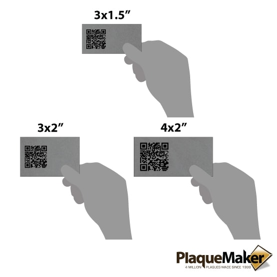 Titanium QR Tag Size Guide