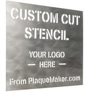 Titanium Stencil Sign